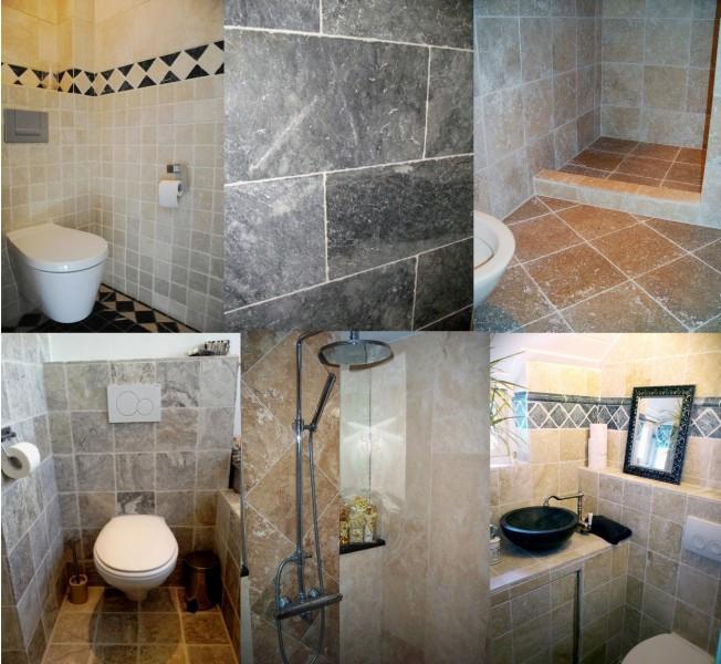natuursteen badkamertegels
